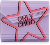 Jimmy Choo CANDY Love Heart Acrylic 'ONLY CHOO' Clutch Bag