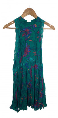 Free People Green Synthetic Dresses