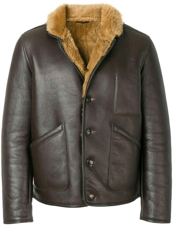 YMC shearling leather jacket