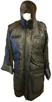 Non Signé / Unsigned Non Signe / Unsigned Grey Leather Jacket for Women