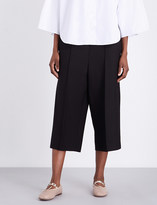 Valentino Cropped wool and silk-blend trousers