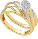 Beautiful Beginnings Diamond Halo Engagement Ring Set in 14k Gold (1/5 ct. t.w.)