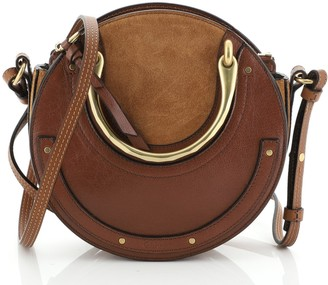 Chloé Pixie Crossbody Bag Leather and Suede Small