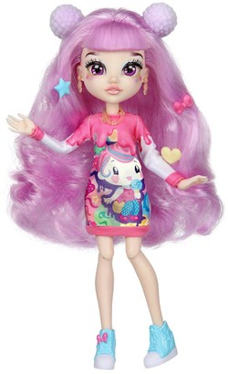 FailFix @Kawaii.Qtee Total Makeover Doll Pack, 8.5 inch Fashion Doll with Long Pink Restylable Hair and Transforming Face, Surprise Fashion Reveal and Accessories