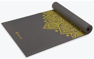 Gaiam Premium Citron Sundial 6mm Yoga Mat, Grey/Citron