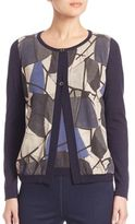 Piazza Sempione Abstract Printed Cardigan