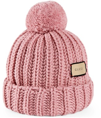 Gucci Knit wool hat with label