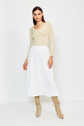 Karen Millen Sunray Pleated Midi Skirt