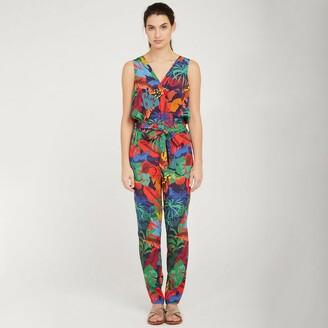 Naf Naf Tropical Print Jumpsuit