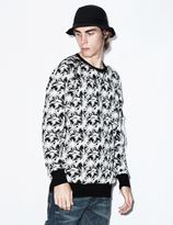 Stampd Palm Jacquard Flight Crewneck