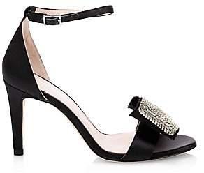 Kate Spade Women's Gweneth Satin & Crystal Bow Sandals
