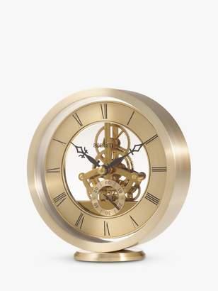Acctim Milledon Skeleton Mantel Carriage Clock, Gold, 13cm