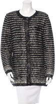 Chanel Wool Metallic-Accented Cardigan