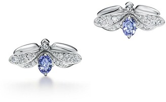 Tiffany & Co. Paper Flowers tanzanite firefly earrings in platinum, mini