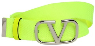 Valentino 30mm Webbing Belt W/ V Logo Buckle