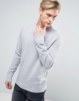 Converse Essentials Luxe Sweat In Grey 10000654-A07