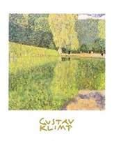 Gustav 1art1 Posters Klimt Poster Art Print - The Schonbrunn Park (28 x 20 inches)