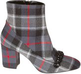 N°21 N.21 N 21 Kilt Pattern Ankle Boots