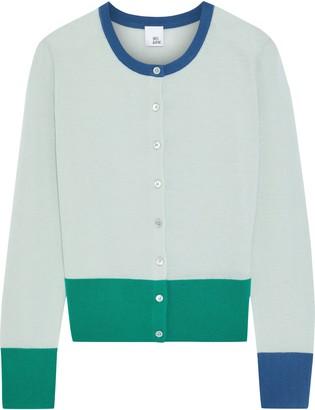 Iris & Ink Daisy Color-block Merino Wool Cardigan