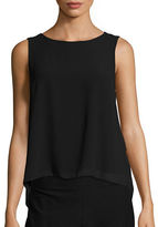 Vero Moda Pleated Sleeveless Chiffon Top