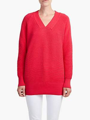French Connection Ottoman V-Neck Jumper, Watermelon