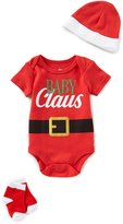 Baby Starters Baby Boys 3-12 Months Christmas Baby Claus Bodysuit, Hat, & Socks 3-Piece Layette Set