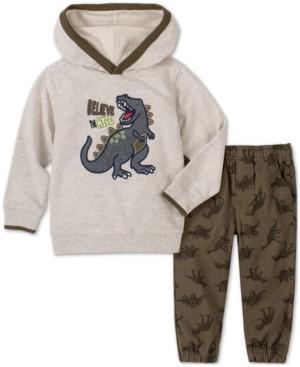 Kids Headquarters Baby Boys 2-Pc. Dino Hoodie & Printed Pants Set