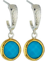 Gurhan Galapagos Small Hoops w/ Round Turquoise Drops