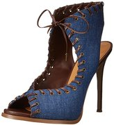Nine West Women's Hotstuff Fabric Heeled Sandal