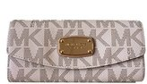 Michael Kors Signature PVC Slim Flap Wallet in