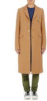 Off-White Men's Wool-Blend Pin-Embellished Topcoat-TAN
