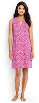 Classic Women's Petite Cotton Sleeveless Dress Cover-up-Light Fuchsia Bandana Paisley