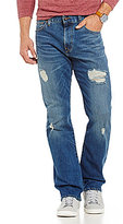 Daniel Cremieux Jeans Straight-Fit Distressed Stretch Jeans