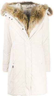 Woolrich faux-fur trim padded parka