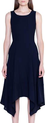 Akris Wool Handkerchief Sleeveless Dress