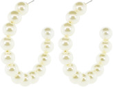 Lele Sadoughi Designs Stardust Pearl Hoop Earrings