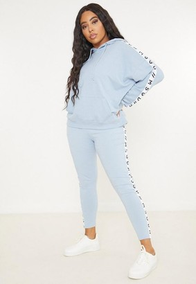 Missguided Plus Size Active Blue Co Ord Msgd Loungewear Leggings
