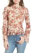 BP Women's Ruffle Floral Lace Top