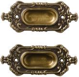 Rejuvenation Pair of NOS Renaissance Revival Sash Lifts by Corbin c1890