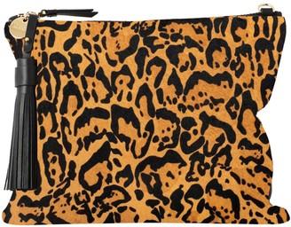 Vash Jem Large Square Clutch In Leopard