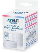 Avent Naturally Bottle Screw Rings (Set of 4)