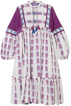 Dodo Bar Or Crochet-paneled Cotton-jacquard Dress