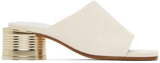 MM6 MAISON MARGIELA White Can Heel Open Toe Sandals