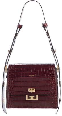 Givenchy Medium Eden Croc Embossed Leather Shoulder Bag