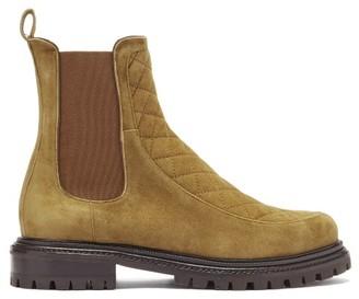 Aquazzura Drive Quilted-suede Chelsea Boots - Khaki