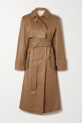 REMAIN Birger Christensen Pirello Belted Leather Trench Coat - Camel