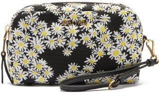 Miu Miu Daisy-print Wash Bag - Black White