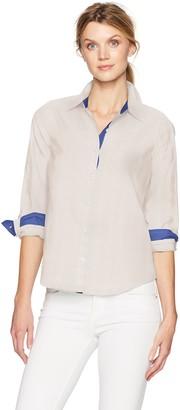 Caribbean Joe Women's Printed Cotton Shiritng
