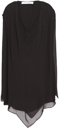 IRO Desvio Asymmetric Layered Georgette Mini Dress