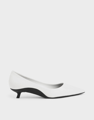 Charles & KeithCharles & Keith Two-Tone Kitten Heel Court Shoes